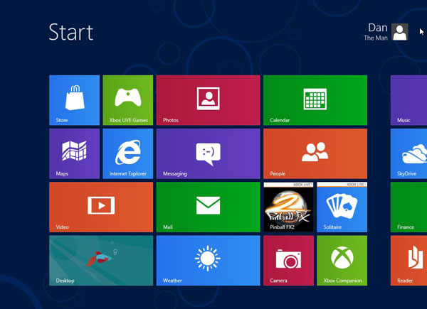Windows 8 Virtual Machine - Windows 8 Desktop